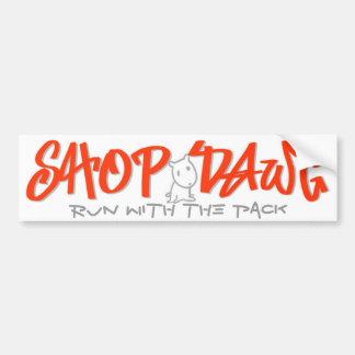 Shop Dawg  Sticker Car Bumper Sticker