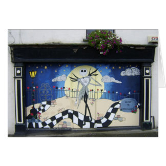 "Shop (For Sale) With Decorative Window Painting ""H Greeting Card"
