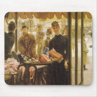 Shop Girl by Tissot, Vintage Victorian Fine Art Mouse Pad