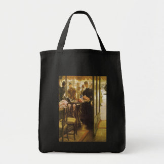 Shop Girl by Tissot Vintage Victorian Portrait Art Canvas Bag