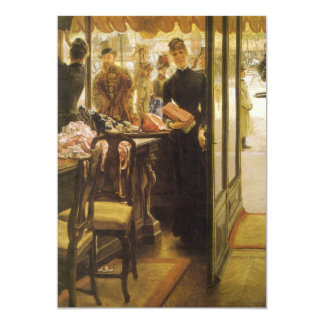 Shop Girl by Tissot Vintage Victorian Portrait Art 5x7 Paper Invitation Card