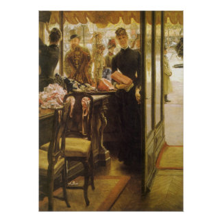 Shop Girl by Tissot Vintage Victorian Portrait Art Poster