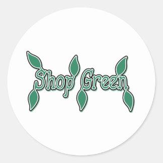 Shop Green Classic Round Sticker