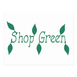 Shop Green Postcard