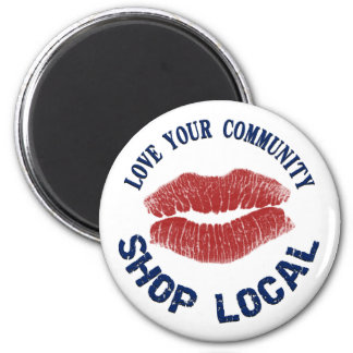 Shop Local 2 Inch Round Magnet