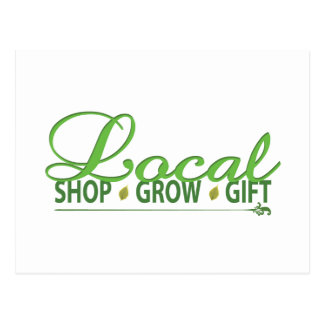 Shop Local, Grow Local, Gift Local Postcard
