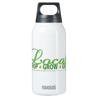 Shop Local, Grow Local, Local 10 Oz Insulated SIGG Thermos Water Bottle