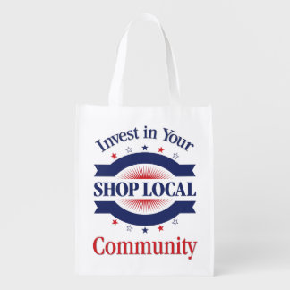 Shop Local Reusable Bag Grocery Bags