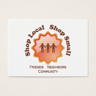 Shop Local, Shop Small Business Card