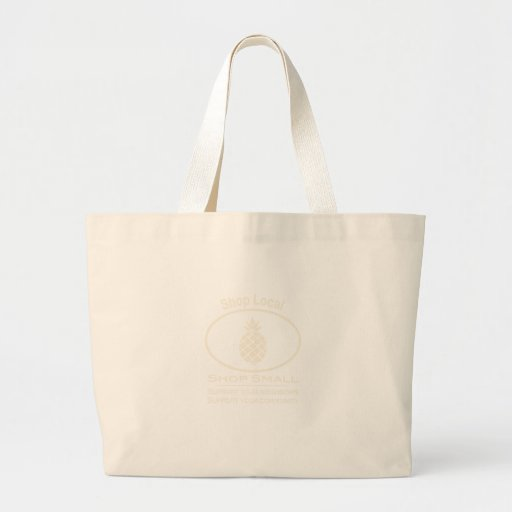 Shop Local, Shop Small cream pineapple Bag
