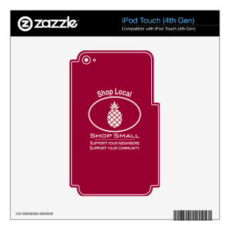 Shop Local, Shop Small cream pineapple Skin For iPod Touch 4G