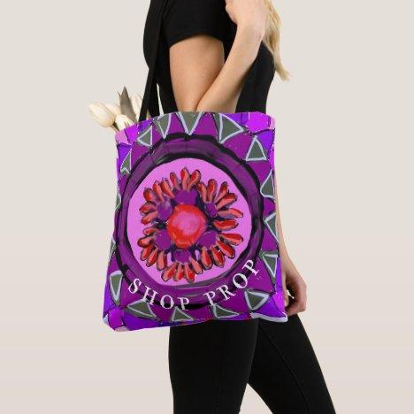 Shop Prop  Purple Circular Pattern
