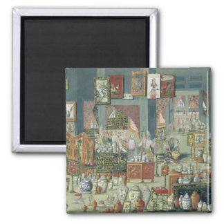 Shop Selling Chinese Goods, mid-18th century (cera 2 Inch Square Magnet