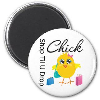 Shop Til U Drop Chick 2 2 Inch Round Magnet
