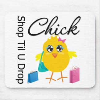 Shop Til U Drop Chick 2 Mouse Pads