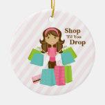 Shop 'Til You Drop   Ornament