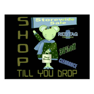 Shop Till You Drop Postcard
