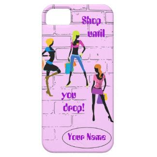 """""""Shop Until You Drop"""" iPhone 5 Case"""