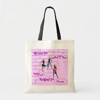 """Shop Until You Drop"" Tote Budget Tote Bag"