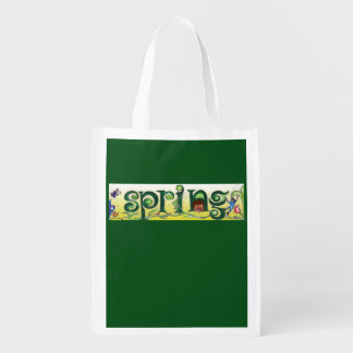 Shop with a 'spring in your step'! grocery bag
