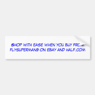 Shop with ease when you buy from flysuperman9 o... car bumper sticker