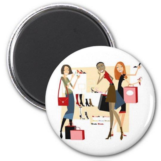 Shopaholic 2 Inch Round Magnet
