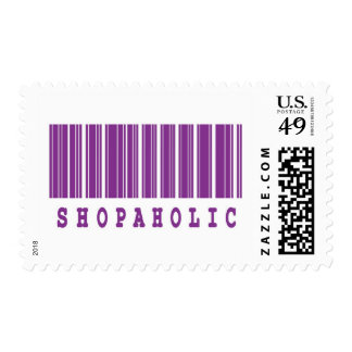 shopaholic barcode design postage stamps
