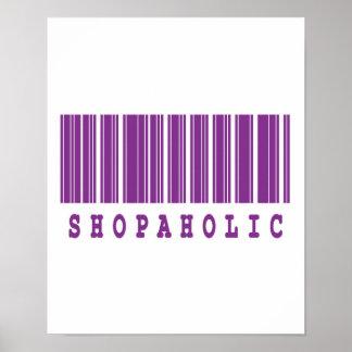 shopaholic barcode design poster