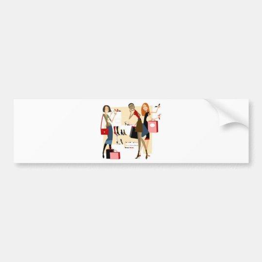 shopaholic bumper sticker