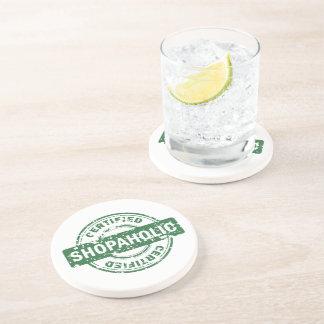 Shopaholic certificado posavaso para bebida