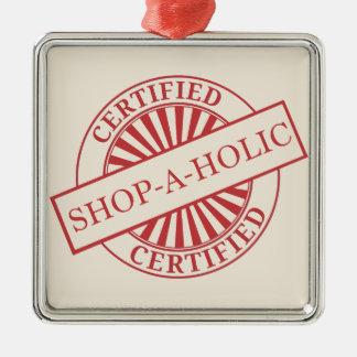 Shopaholic Adorno Cuadrado Plateado