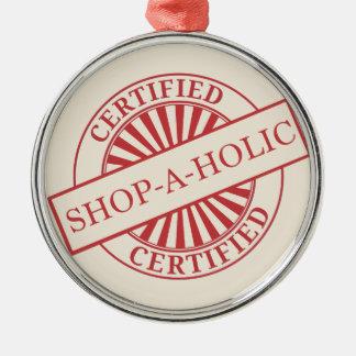 Shopaholic Adorno Redondo Plateado