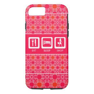 Shopaholic divertido rosado come el premio de la funda iPhone 7