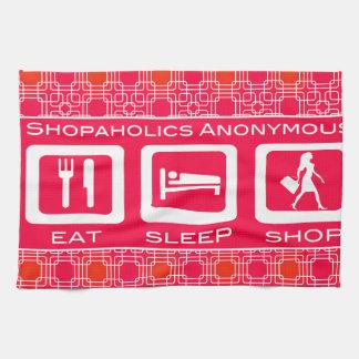 Shopaholic divertido rosado come el premio de la toalla