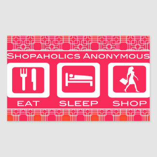 Shopaholic divertido rosado come el premio de la t etiqueta