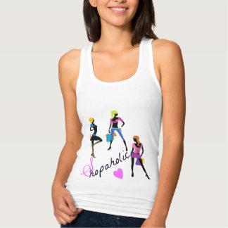 shopaholic girls tank top
