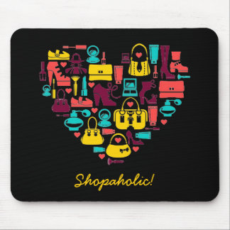 Shopaholic (heart) Customizable Mouse Pad