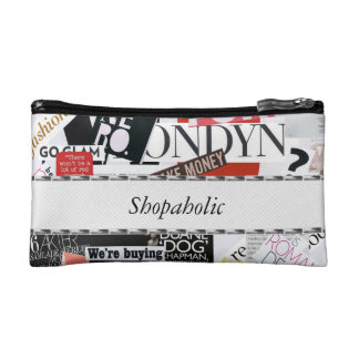 Shopaholic Magazine Clippings Cosmetic Bags