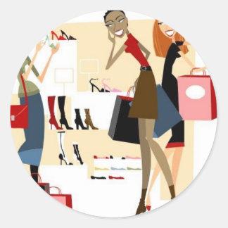 Shopaholic Etiquetas Redondas