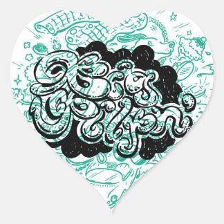 shopaholic pegatina en forma de corazón