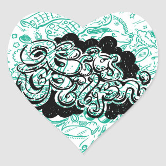 shopaholic heart sticker