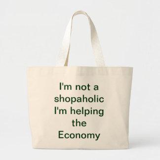 Shopaholic tote jumbo tote bag