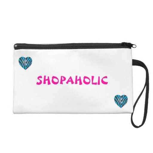 shopaholic wristlet purses