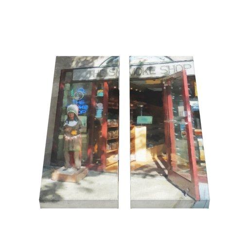 Shopfronts - tienda del humo impresión de lienzo