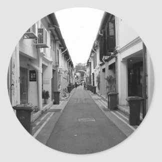 Shophouses Classic Round Sticker