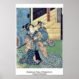 Shopkeeper Oume of Sugimoto by Utagawa,Toyokuni Poster