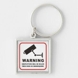 Shoplifters Will Be Killed Keychain