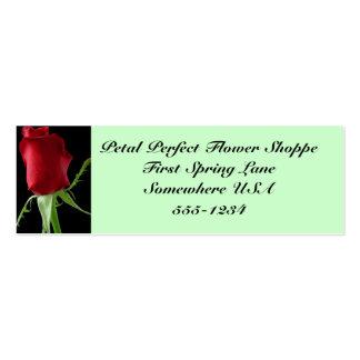 Shoppe perfecto de la flor del pétalo tarjetas de visita mini