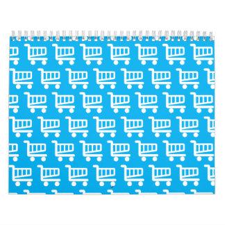 shopper blue and white calendar