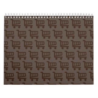 shopper brown calendar